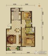 建邦原香溪谷2室2厅2卫106平方米户型图