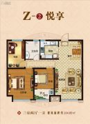 保利海德公馆3室2厅1卫104平方米户型图