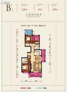 铜雀台3室2厅2卫150平方米户型图
