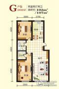 江畔阳光2室2厅2卫102--107平方米户型图