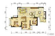 长虹和悦府3室2厅1卫80平方米户型图