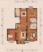 中冶世家3室2厅2卫136平方米户型图