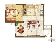 盛润锦绣城1室2厅1卫0平方米户型图