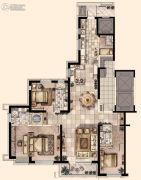 奕聪花园3室2厅3卫240平方米户型图