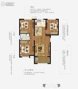 上林熙园3室2厅1卫113--117平方米户型图