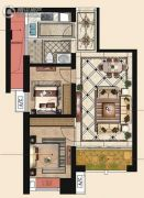 泰禾・首玺2室2厅1卫0平方米户型图
