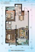 华海・蓝境2室2厅1卫83平方米户型图