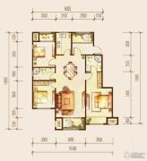 金科廊桥水岸3室2厅2卫112平方米户型图
