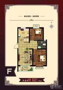 北港蓝湾2室2厅1卫93平方米户型图