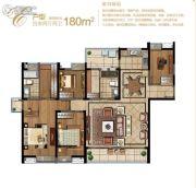 堰湾长堤4室2厅2卫180平方米户型图