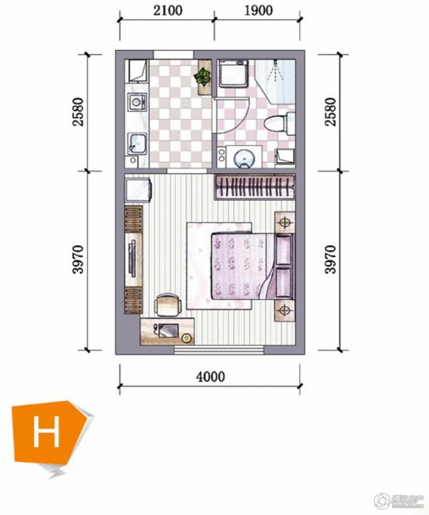 > 东海大麦公寓户型图