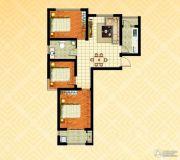 金色漫城3室2厅1卫105平方米户型图