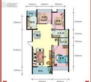 上上坊3室2厅2卫110平方米户型图