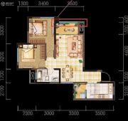 亲亲里2室2厅1卫83--85平方米户型图