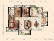 天玺三期3室2厅2卫138平方米户型图