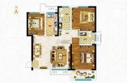 空港新城3室2厅2卫117平方米户型图