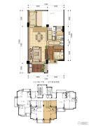 东晟泰和园1室2厅1卫0平方米户型图