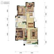 东城人家3室2厅1卫107平方米户型图