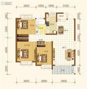 恒大海上帝景3室2厅1卫110平方米户型图