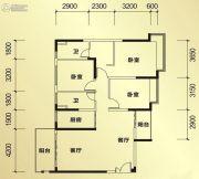 恒大帝景3室2厅1卫134平方米户型图