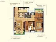 碧桂园世纪城3室2厅1卫0平方米户型图