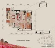 融汇半岛玫瑰公馆3室2厅2卫112平方米户型图
