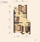 建龙・班芙小镇2室2厅1卫67平方米户型图