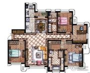 东港第4室2厅2卫188平方米户型图
