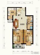 天和嘉园2室2厅1卫84平方米户型图