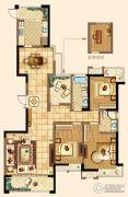 深业华府3室2厅2卫146平方米户型图