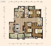 东胜紫御府3室2厅3卫225平方米户型图