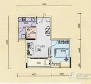 金奥园1室1厅1卫42平方米户型图