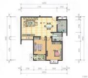 奥园康城2室2厅1卫84平方米户型图
