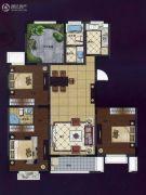 华夏世纪锦园4室2厅2卫138平方米户型图