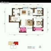 阳光台3653室2厅2卫127平方米户型图