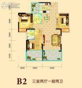 诚易佳和时代3室2厅2卫119平方米户型图