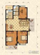 城南春天3室2厅1卫110平方米户型图