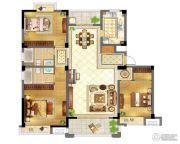 苏宁天御广场3室2厅2卫140平方米户型图