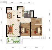 保利时代2室2厅1卫83平方米户型图