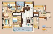 碧桂园玺悦3室2厅2卫113平方米户型图