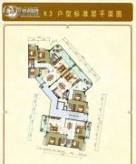碧水蓝湾3室2厅2卫137平方米户型图