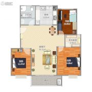 城虢和院3室2厅1卫92平方米户型图