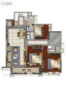 中海花湾壹号4室2厅2卫127平方米户型图