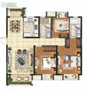 保利悦都3室2厅2卫125平方米户型图