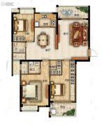 滨江熙岸3室2厅2卫141平方米户型图