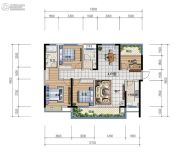 日盛・桂花城4室2厅2卫132平方米户型图
