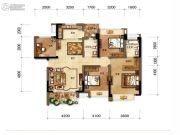 招商中央华城4室2厅2卫126平方米户型图