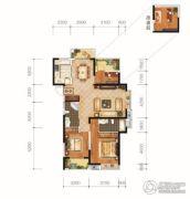 城投地产・智禧湾3室2厅2卫124平方米户型图