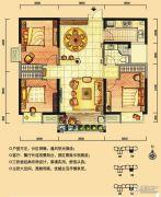 华强城3室2厅1卫106平方米户型图