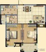 九洲花园缇香郡2室2厅1卫93平方米户型图